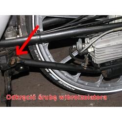 Odkręcanie tylnego koła - rower z silnikiem Sachs 301a