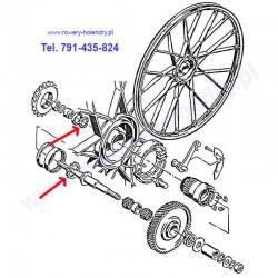 Wianki kulkowe piasty koła (7 i 9 kulek) do rowerów z silnikiem spalinowym Sachs 301A