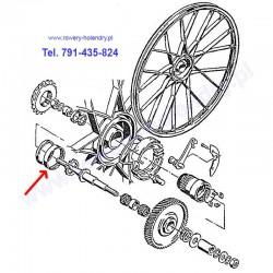 Łożysko piast koła do rowerów z silnikiem spalinowym Sachs 301A - schemat
