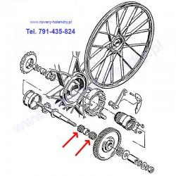 Złożenie igiełkowe na oś - pod koło zębate - rower z silnikiem spalinowym Sachs 301A