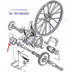Uszczelniacze / Simmeringi komplet (wał, silnik, piasta) do rowerów z silnikiem Sachs 301A