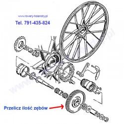 Kosz sprzęgła ze ślimakiem - rower z silnikiem spalinowym Sachs 301A