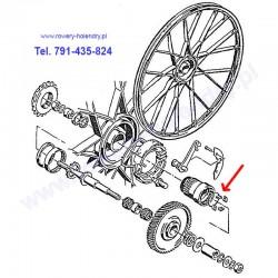 Pierścień zapadek i 4 zapadki - do rowerów z silnikiem spalinowym Sachs 301A