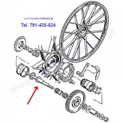 Oś do roweru z silnikiem spalinowym Sachs 301A