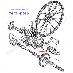 Piasta - wieloklin - rower z silnikiem spalinowym Sachs 301A