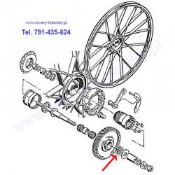 Podkładki na oś - rower z silnikiem spalinowy Sachs 301A