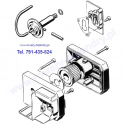 Schemat filtra i dekompresatora - rower z silnikiem spalinowym Sachs 301A