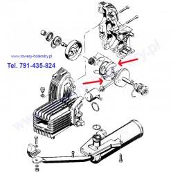 Szczęka sprzęgła - rower z silnikiem spalinowym Sachs 301A - schemat