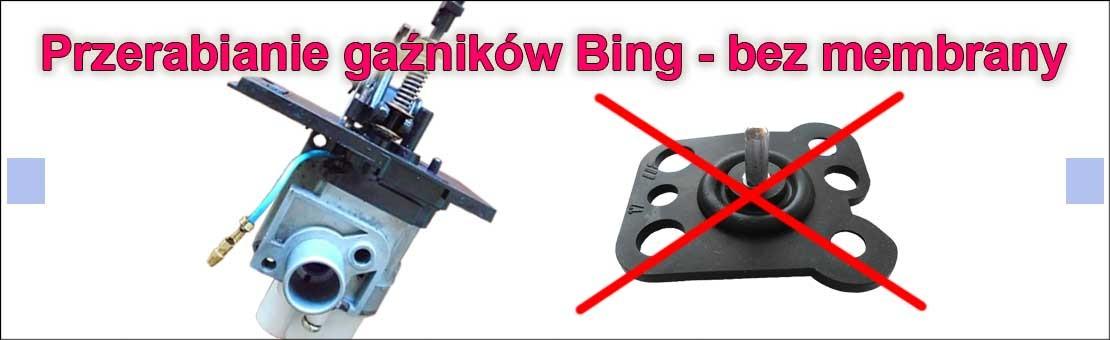 Przerabianie gaźników Bing - bez membrany
