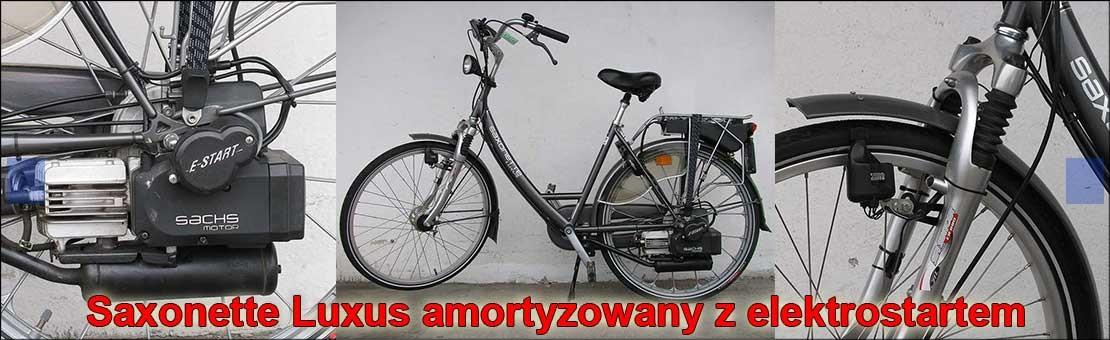 Saxonette Luxus - rower z silnikiem spalinowym Sachs 301a